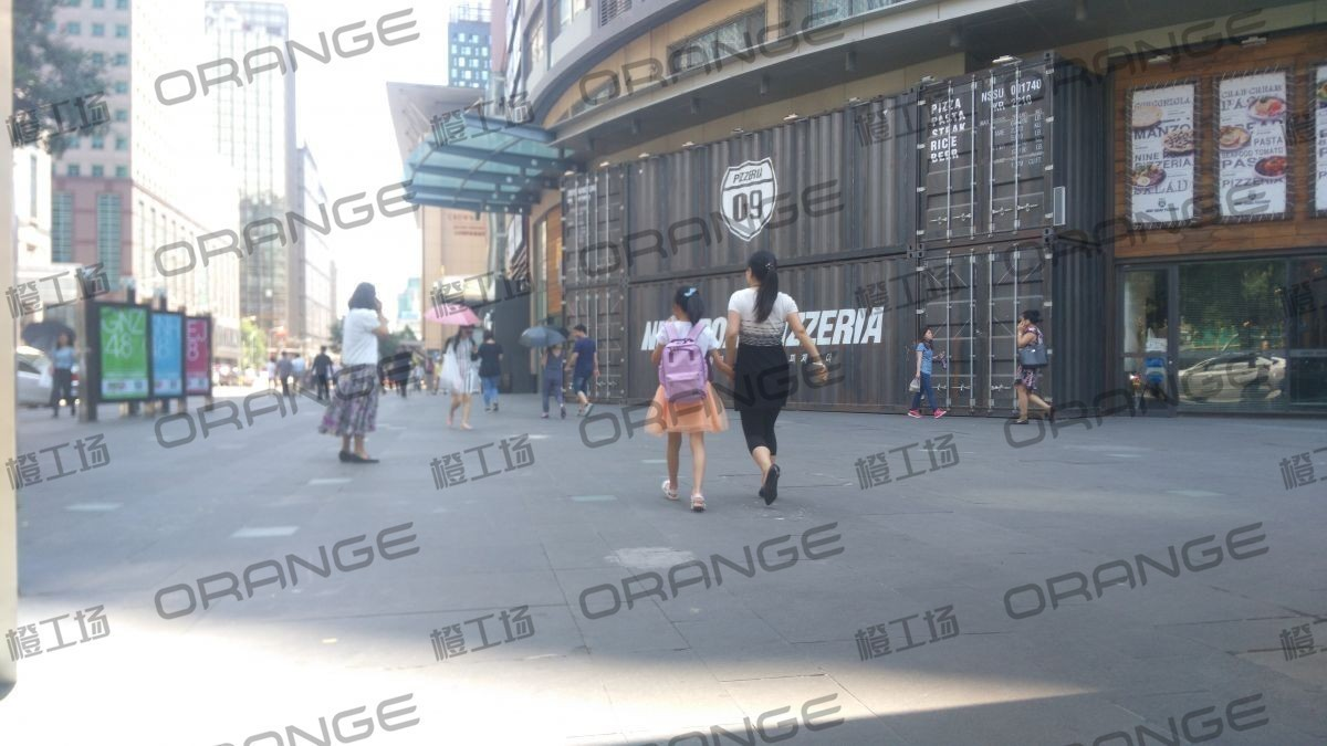 北京悠唐购物中心-室外西北角LOGO后16