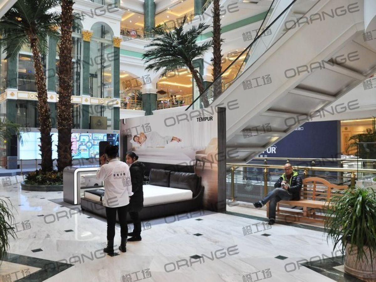 上海环球港-室内B2层北侧中庭扶梯东西两侧(两块)1